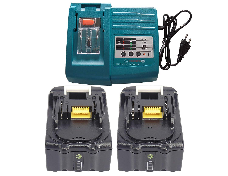 YASI MFG® para Makita Cargador & 2 x Batería para Makita ...