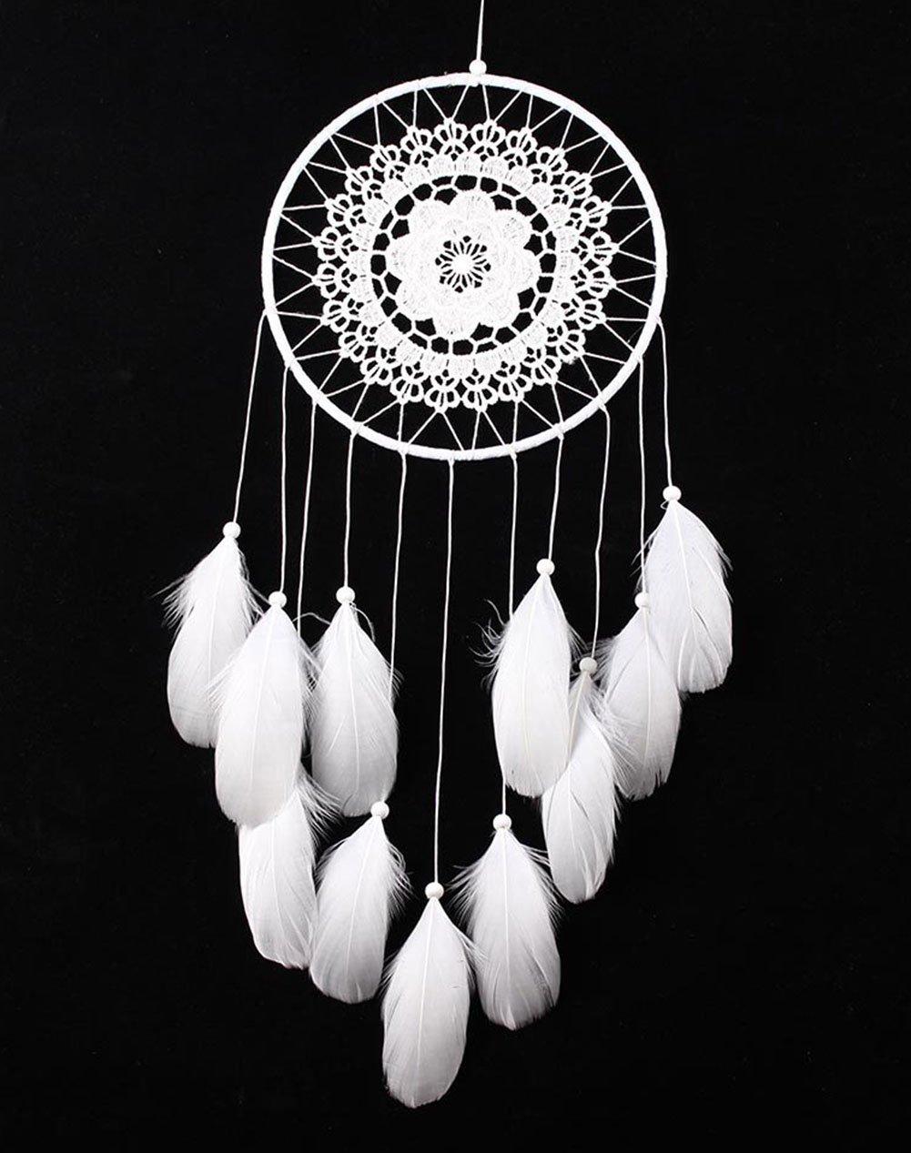 Cloud-Y Acchiappasogni/ Dreamcatcher indiano con piume/ 19.6'-21.6'