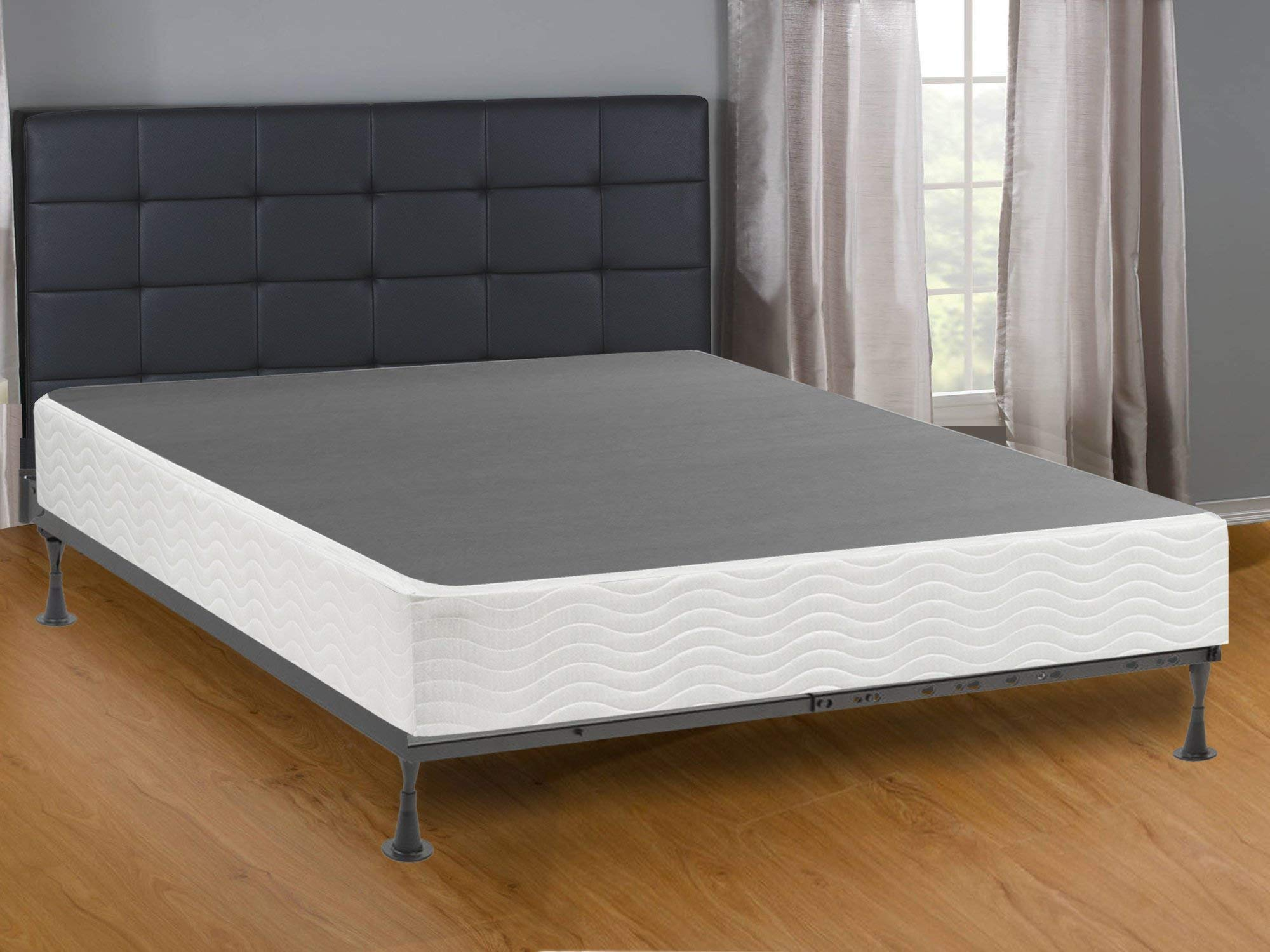 Mattress Comfort Simple Assembly Metal Box Spring/Foundation, Queen, Fully