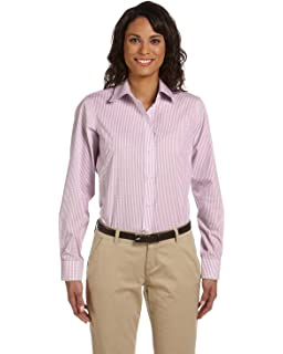 5b4f54b3b Chestnut Hill Women's Long Sleeve Executive Performance Broadcloth Button  Down Dress Shirt (CH600W)