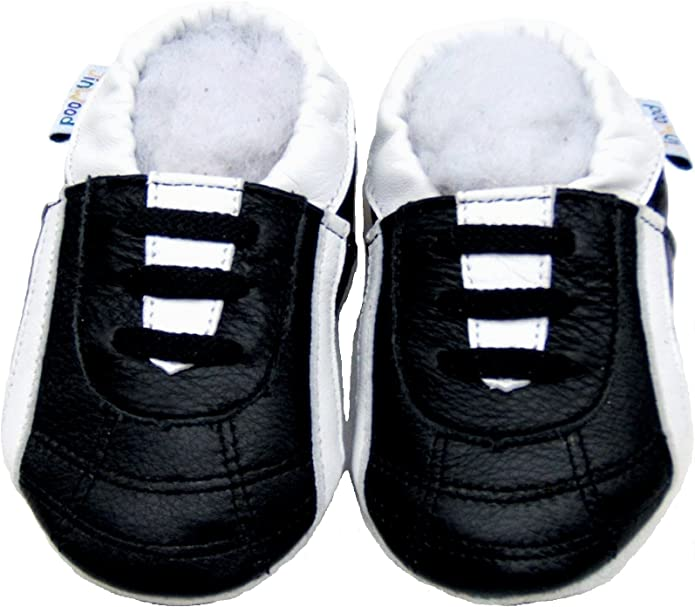 Infant Toddler Girls Boys Soft Sole Faux Leather T Bars Shoes UK Size 5-10