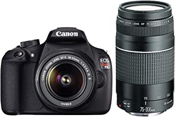 Canon Eos Rebel T5 With 18 55mm And 75 300mm Lenses