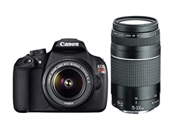 Buy Canon Eos Rebel T5 With 18 55mm And 75 300mm Lenses