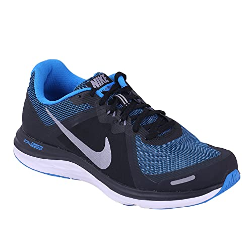 sale retailer 254d6 56330 Nike Men s Dual Fusion Black And Metallic Charcoal Running Shoes- (7 Us)  Buy  Online at Low Prices in India - Amazon.in