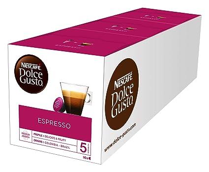 NESCAFÉ Dolce Gusto Espresso | 48 Kaffeekapseln | 100% edle Arabica Bohnen | Charaktervoller Espresso | Fruchtige Granatapfel