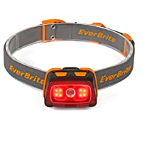 EverBrite Headlamp - 300 Lumens Headlight with Red/Green Light and Tail Light, 7 Lighting Modes, Perfect for Trail…