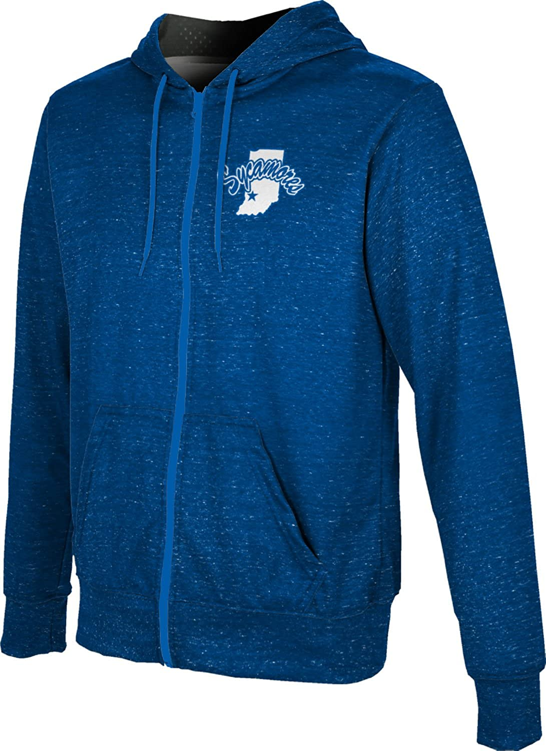 Heathered ProSphere Indiana State University Mens Fullzip Hoodie