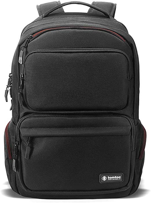 tomtoc Laptop Backpack, Travel Backpack Waterproof Business Backpack with USB Charging Port, BottomArmor Patent, Anti-Theft and TSA Friendly Design Fits Up to 15.6 Inch Laptop, 30L