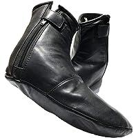 Heren dames unisex echt lederen zwarte sokken khuffs khuffain voor Hajj Umrah