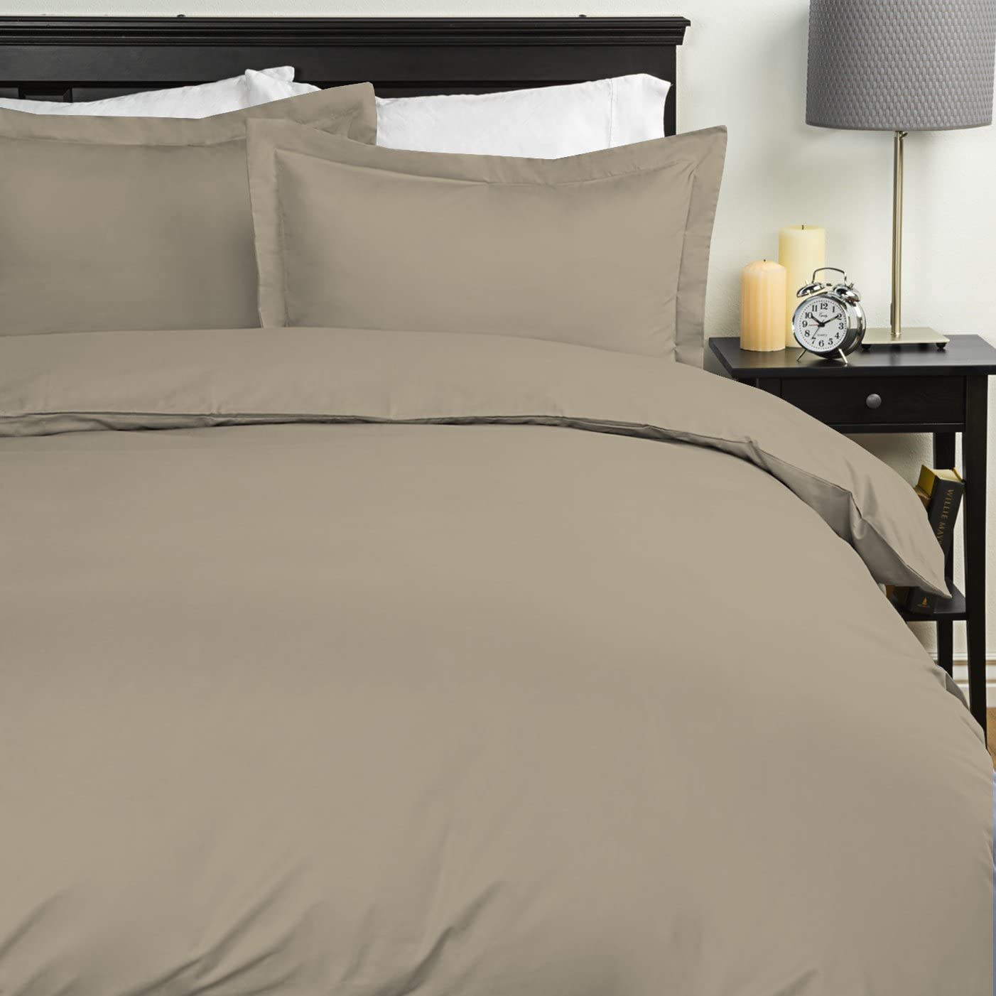 Sweet Home Collection Duvet Cover 1800 Thread Count 4 Pc Sheet Set, Queen, Sage, 7 Piece