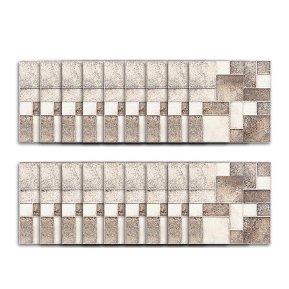Anna-neek Carrelage adhesif Carreaux de ciment adhésif mural stickers salle de bain et cuisine Feuille adhésive décorative carreaux - Mosaïque carrelage mural   Stickers carrelage - Autocollant en Vin