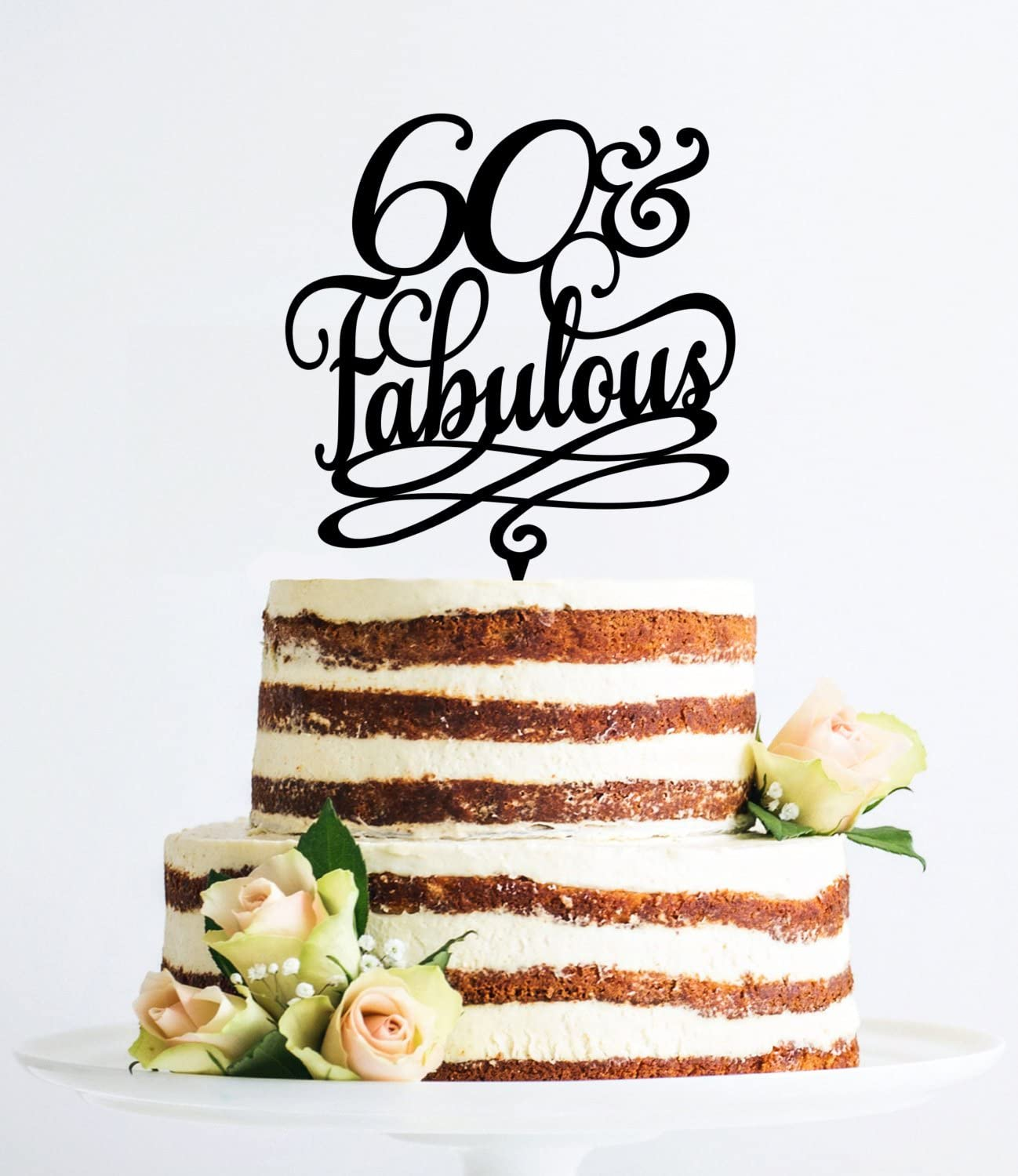 Phenomenal Qidushop 60 And Fabulous Birthday Cake Topper For Women Classy Funny Birthday Cards Online Bapapcheapnameinfo
