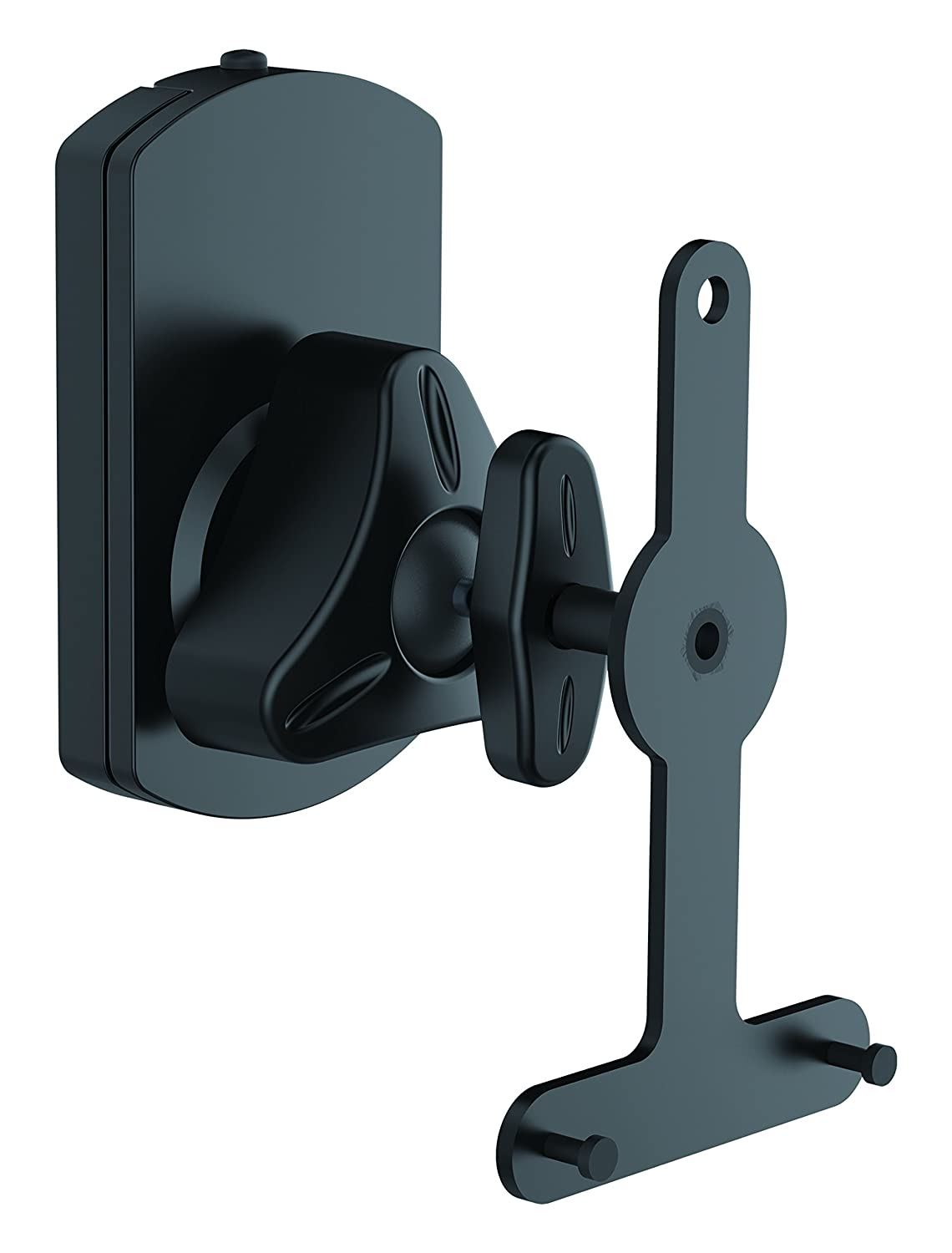 Universal Wall Mount Speaker Stand - Pair of Heavy Duty Steel Metal Home Studio Adjustable Speaker Racks For Sonos PLAY 1, PLAY 3 Wireless, Other Home Theater Surround Sound Speakers - Pyle PSTNDSON08