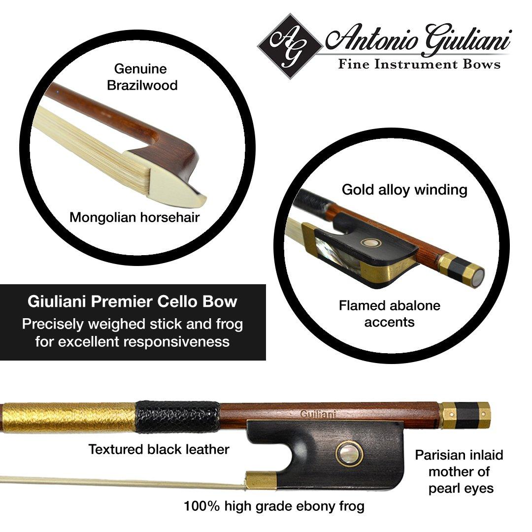 Giuliani Gold Brazilwood Cello Bow Kennedy Violins