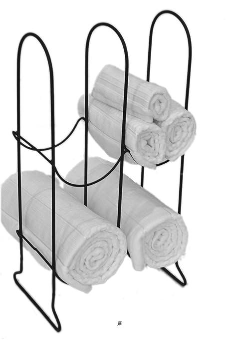 Armario para el baño de invitados toalla de baño de pantalla soporte, soporte de metal