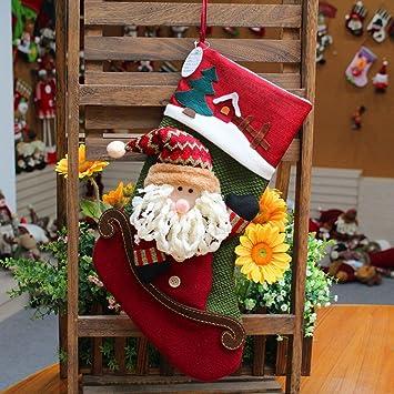 Adornos Navideños Grandes Calcetines de Navidad Calcetines Festivos Muñecos de Nieve Navideños Calcetines de Navidad Calcetines de Navidad,UN: Amazon.es: ...