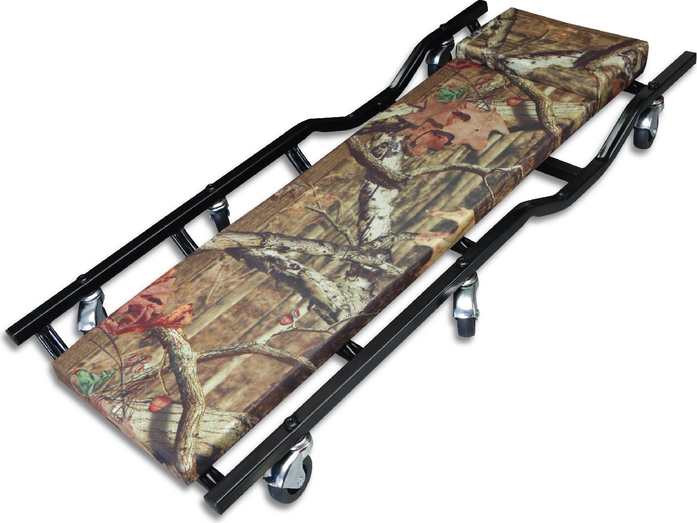 Torin Big Red Rolling Garage/Shop Creeper: 40' Padded Mechanic Cart, Mossy Oak Camo TR6455MO