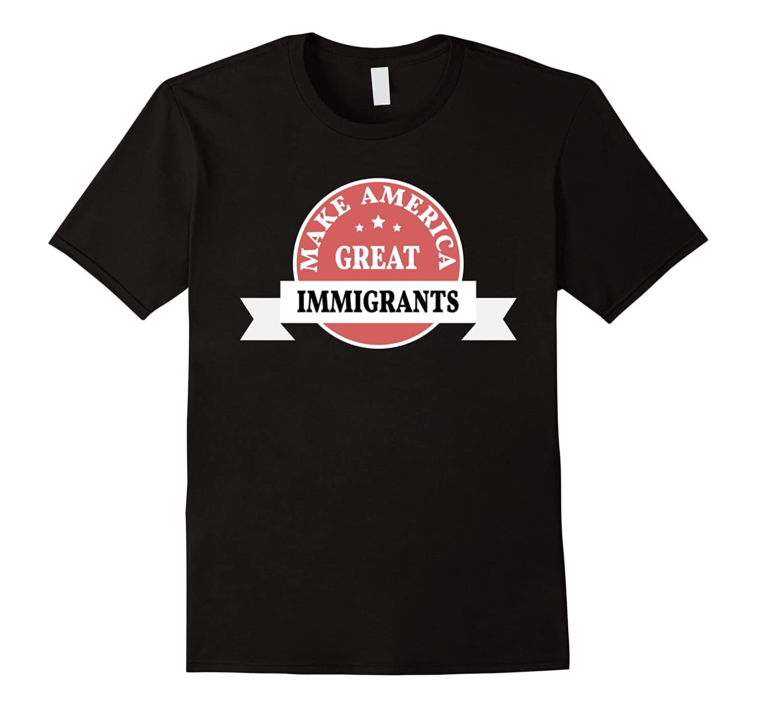 Imigrants Make America Great: Vintage style Stamp Type Shirt-Loveshirt