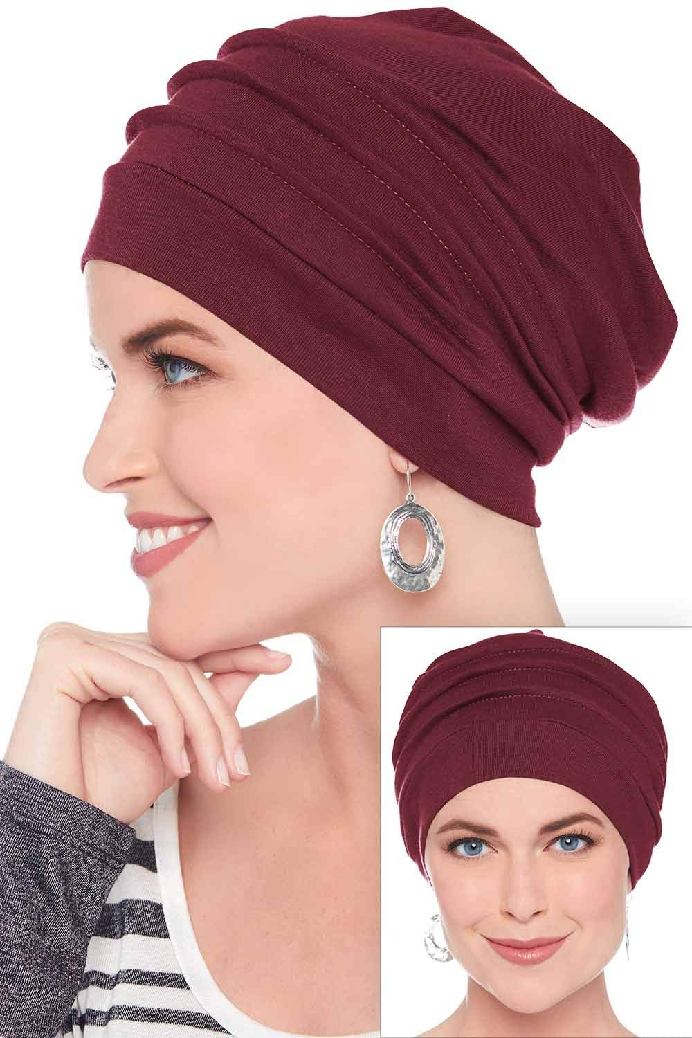 Slouchy Snood-Caps for Women with Chemo Cancer Hair Loss Navy Headcovers Unlimited TU-13478-NVY