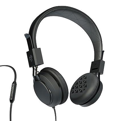 da15b387c70 JLab INTRO-BLK-BOX Premium On-Ear Audífonos with Universal Mic, Black