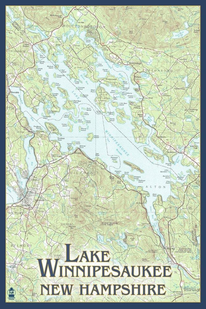 【驚きの価格が実現!】 湖Winnipesaukee、New 24 Hampshire 24 – Noアイコン 12 x Giclee 18 Metal Sign LANT-46179-12x18M B00N5CQ6TE 24 x 36 Giclee Print 24 x 36 Giclee Print, イタバシク:bf48e074 --- 4x4.lt