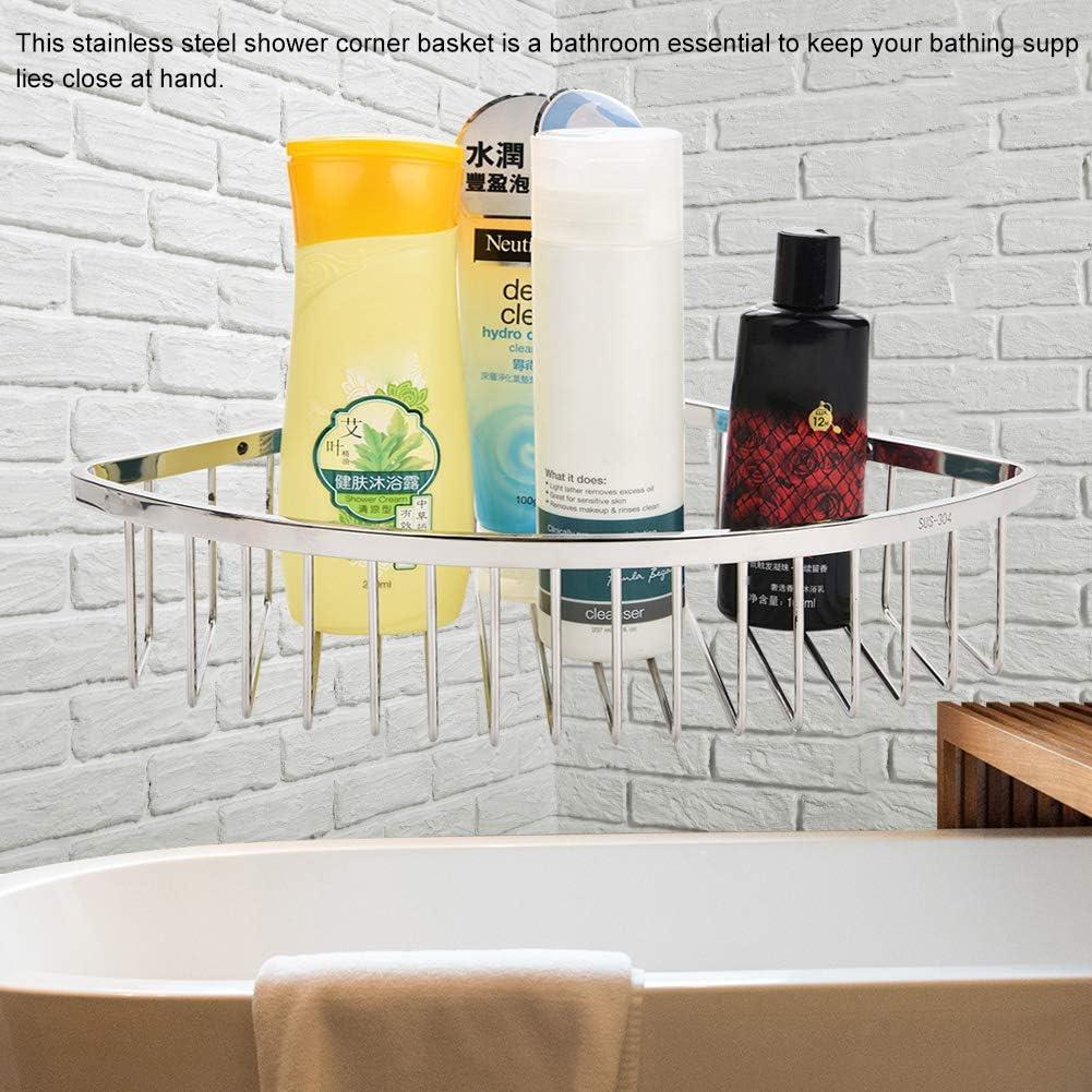 Cesta esquinera para ducha de acero inoxidable 304 organizador de pared 7cm con forma de tri/ángulo para ba/ño estante organizador de almacenamiento
