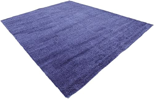 Unique Loom Solo Collection Solid Plush Kids Navy Blue Area Rug 8' 0 x 10' 0