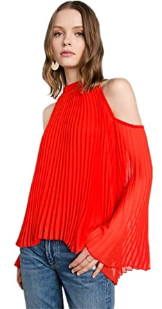 Sexy Long Sleeve Bell Trumpet Flared Flare Sleeve High Mock Neck Cold Open Shoulder Pleated Chiffon