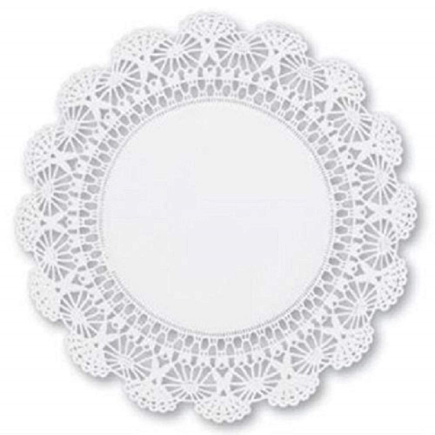 10 inch White Round Paper Lace Doilies - Bring an extra touch of elegance to the presentation of your desserts (100)