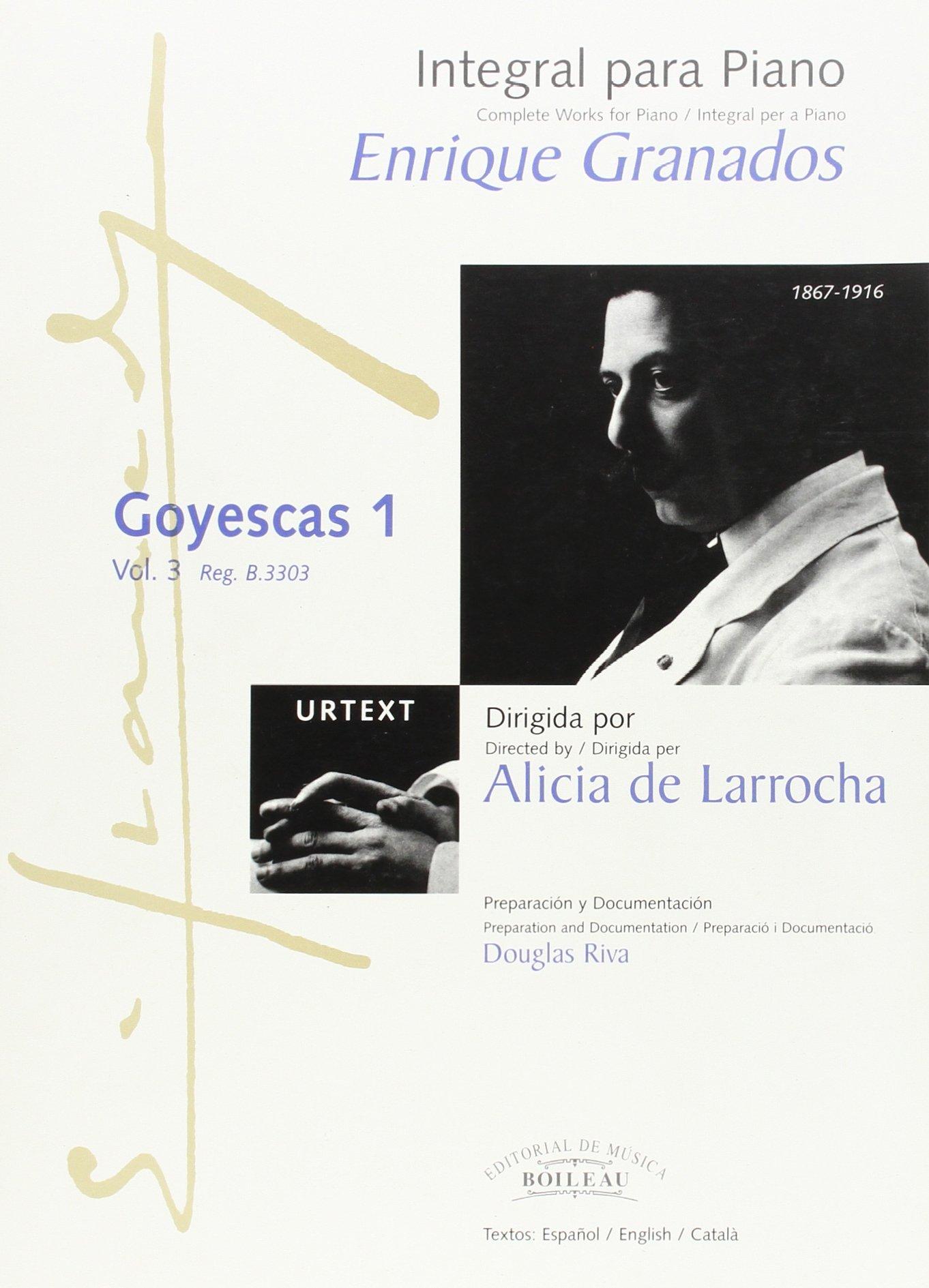 Integral para piano Enrique Granados: Goyescas 1 - B.3303: Amazon.es: Enric GRANADOS: Libros