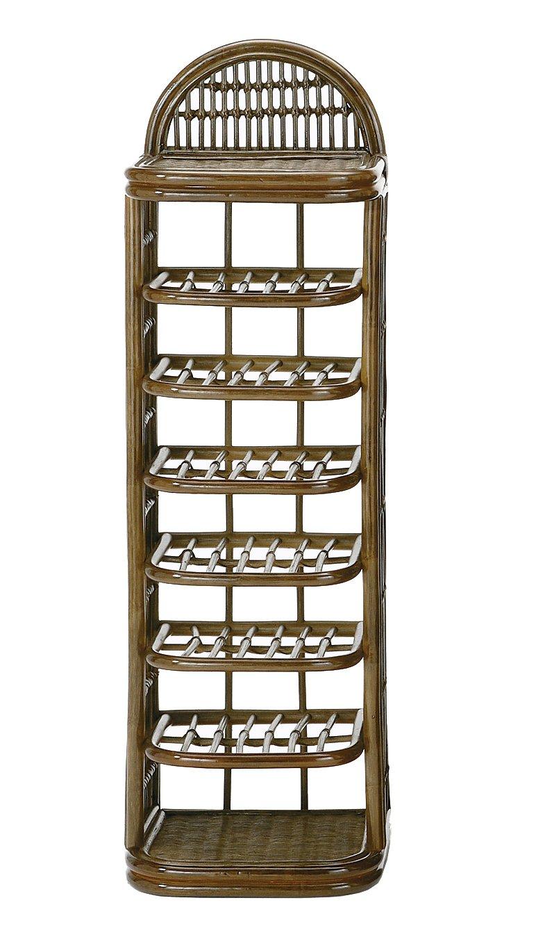 今枝商店 ラタン スリッパラック 5段 5足収納 R-295B B0018NOPJ0 幅35×奥行き32×高さ89(cm)|タイプ:スリッパラック 5段 5足収納 R-295B  幅35×奥行き32×高さ89(cm)