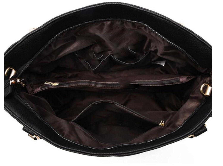 Handtaschen Tote Fashion Taschen Patent Taschen Glossy Handtaschen Schultertaschen Europa Und Die Vereinigten Staaten Mode Platin Taschen,Blue-OneSize GKKXUE