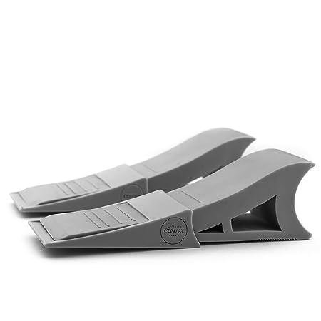 Door Stopper   2 Pack   Non Skid Rubber Wedge   Modern Design Doorstop   Non