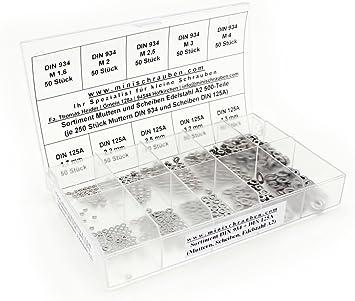 beschrifteter Box Schlitz Minischrauben Sortiment inkl Senkkopf Sortimentskasten mit 200 St/ück kleinen Senkschrauben nach DIN 963 aus Messing M2, M2,5 und M3