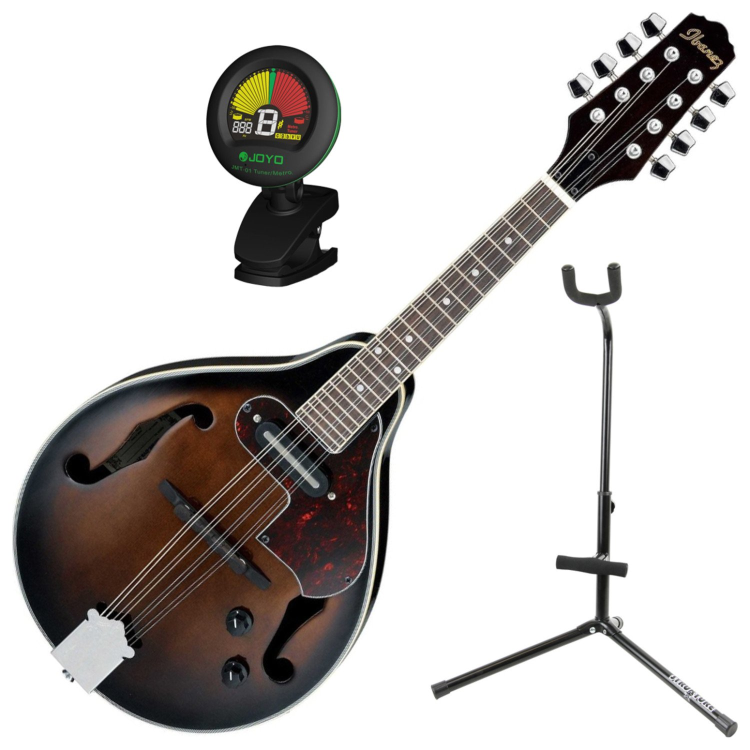 Ibanez M510EDVS A Style Electric Acoustic Mandolin Dark Violin Sunburst w/ Stand and Tuner M510EDVS BUNDLE