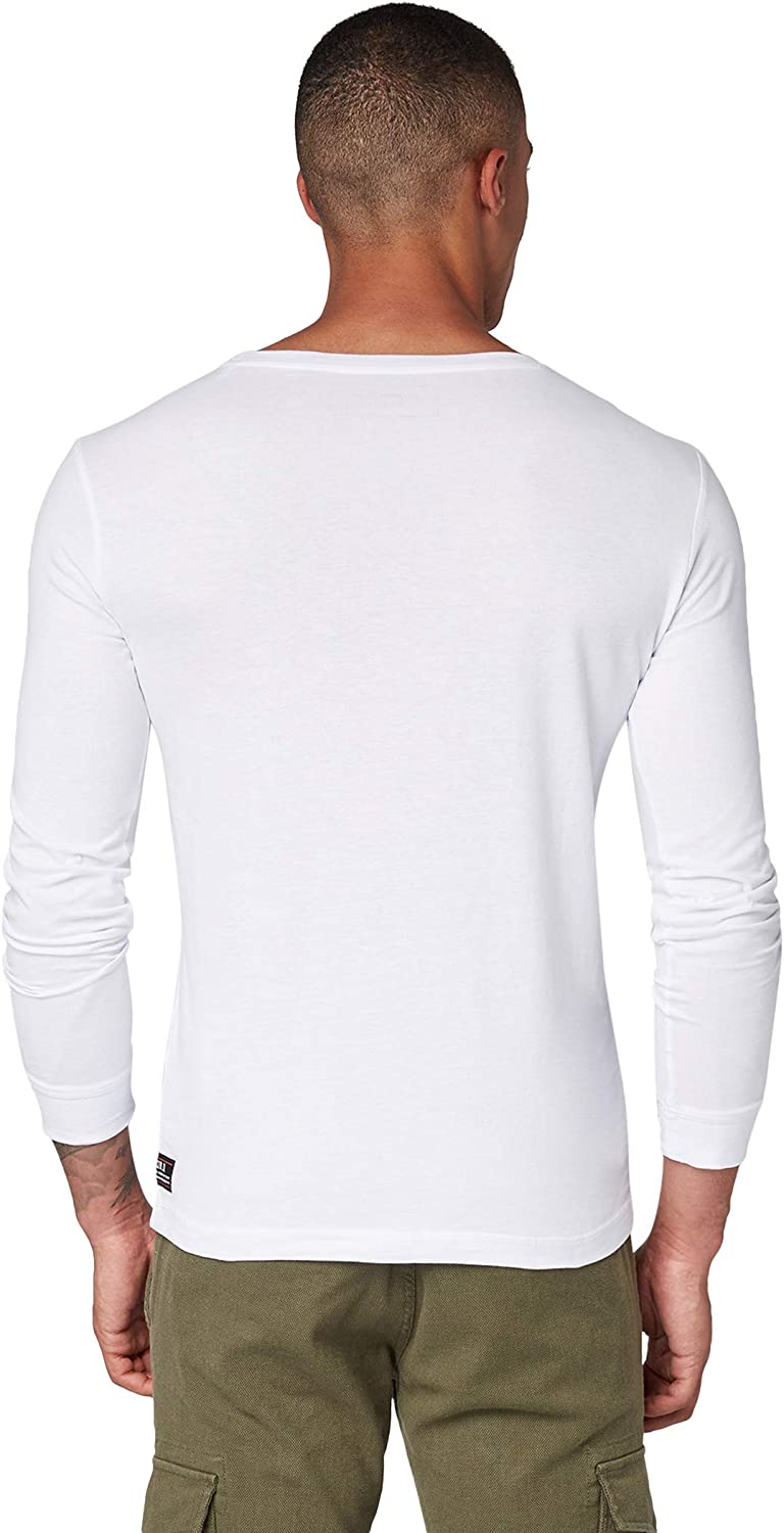 TOM TAILOR Print T-Shirt Manches Longues Homme