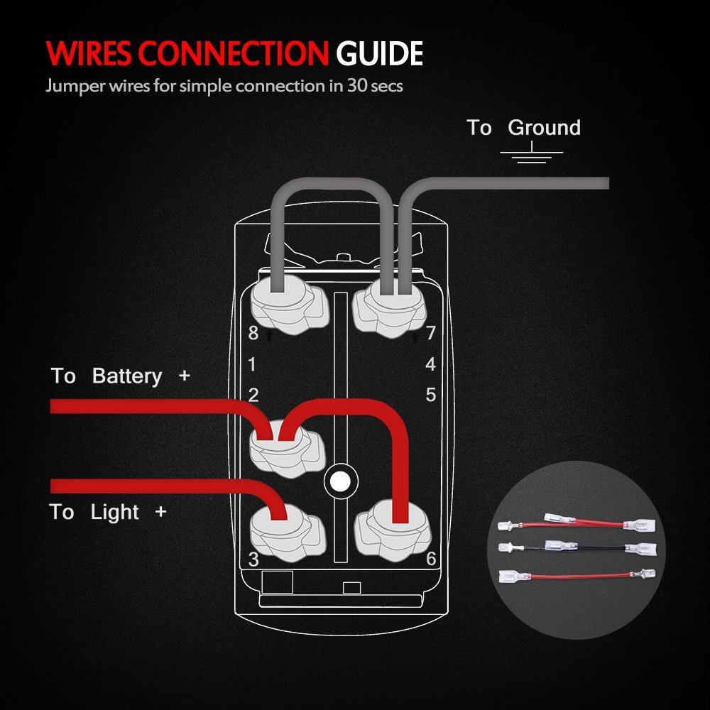 Rocker Switch Wiring Diagram 5 Wire Dc Libraries Amazon Com Mictuning Mic Lsb1 Laser Led Light Bar On