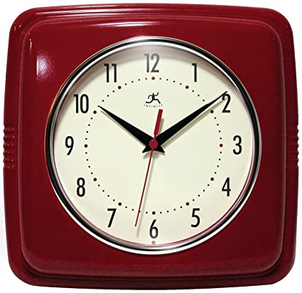 Ordinaire Infinity Instruments Square Clock, Red