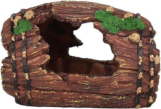 Fdit Cueva de Refugio Cueva Caja de Reptiles Paisajismo Cueva Oculta Araña Escorpión Caja Ocultar Cueva para Reptiles, Lagarto, araña, Acuario de Tortuga: Amazon.es: Productos para mascotas