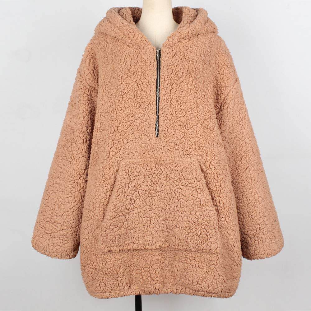 Amazon.com: Clearance! Gallity Parka Jacket Women,Womens Warm Sweatshirt Artificial Wool Coat Hooded Zipper Winter Outerwear (2XL, Khaki): Garden & Outdoor