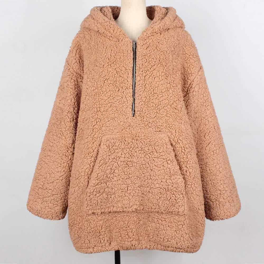 Darringls Abrigos de Invierno Mujer,2018 Suéter de Chaqueta otoño Camiseta de Manga Larga Mujer Jersey cálido Hoodie Felpa Sudadera con Capucha: Amazon.es: ...