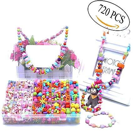 Amazon Com 720 Pcs Beads Set For Kids Jewelry Making Craft Diy