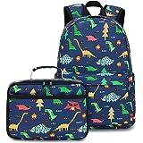 BLUBOON Preschool Backpack Kids Kindergarten Backpack With Lunch Box Dinosaur School Book Bags for Elementary Primary Schoole