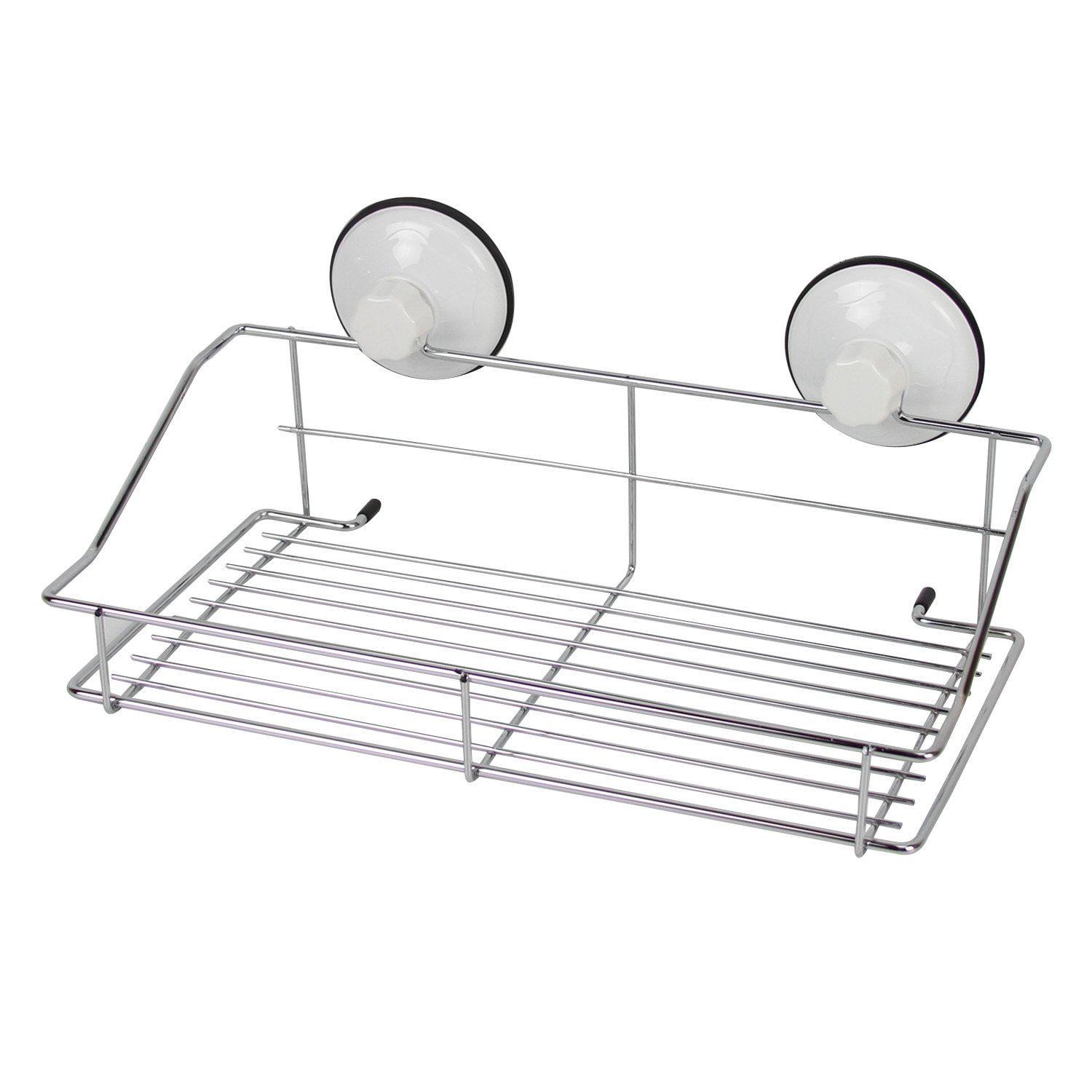 Evelyne GMT-10071 Stainless Steel Shower Soap Dish Wire Rack with Suction Cups Organizer Storage for Kitchen Bathroom