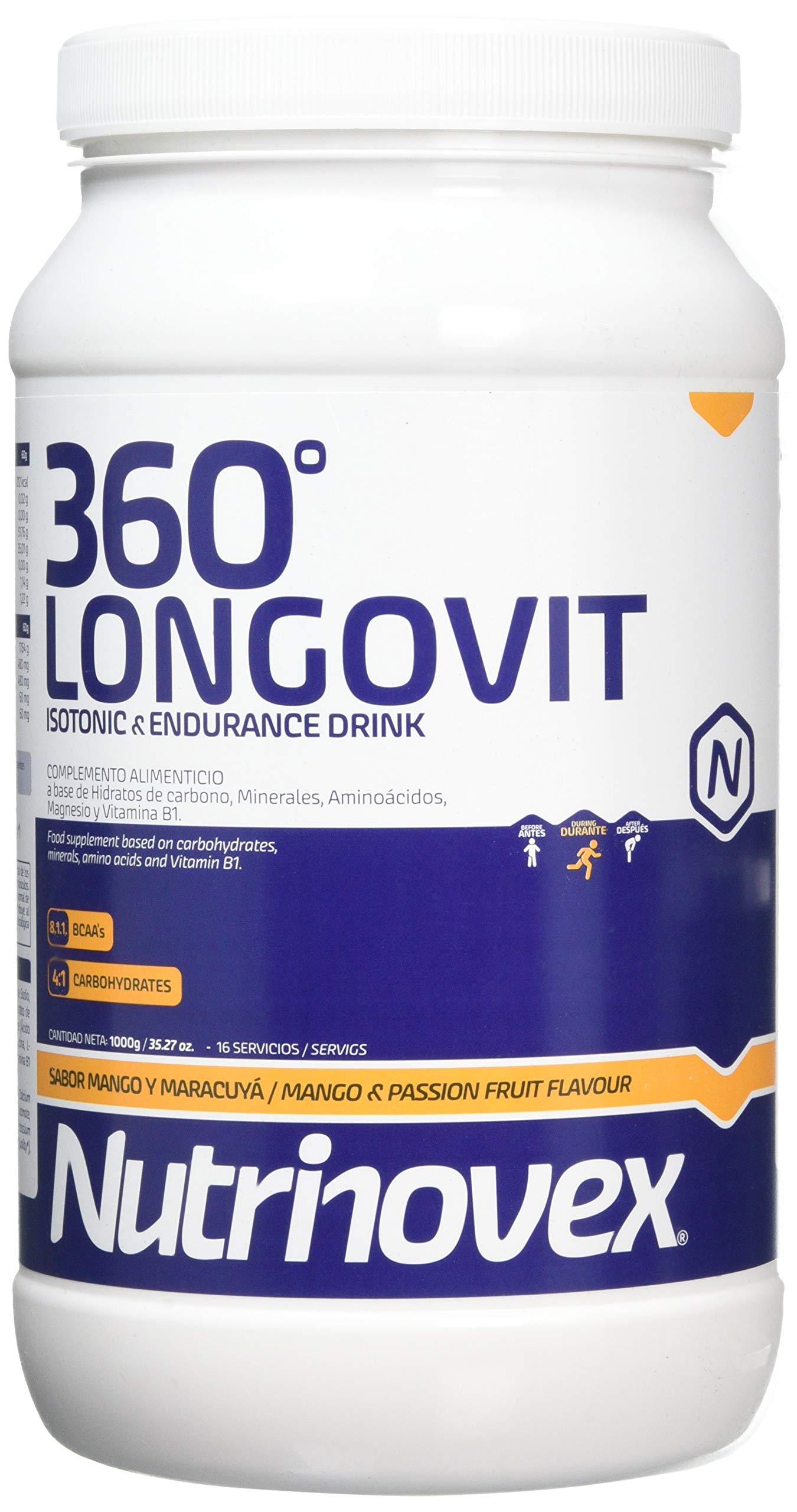 Nutrinovex bebida energética e isotónica 360º Longovit, Sabor Mango y maracuyá - 1000 gr product