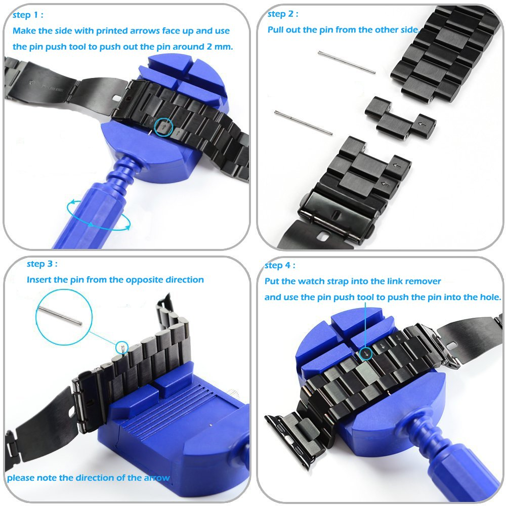 Moobom 42mm Stainless Steel Apple Watchband with Links Removal Tool