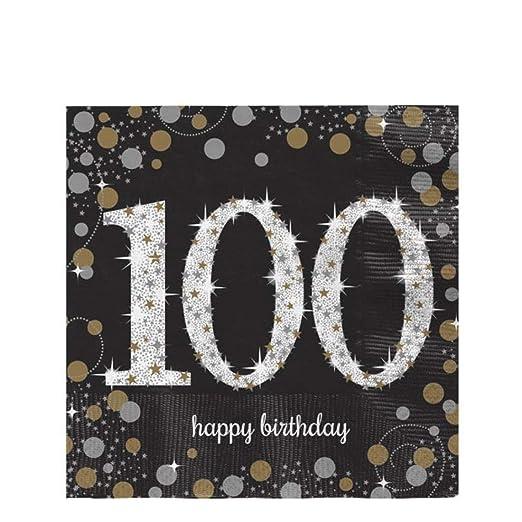 GiftRush Servilletas de Papel para Fiesta de 100º cumpleaños ...