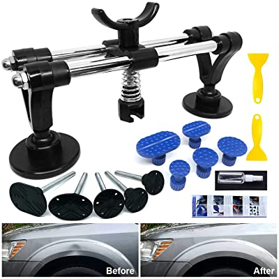 Dent Puller - Car Dent Repair Tool with Bridge Dent Puller and Dent Puller Tabs for Car Dent Removal, Door Dings and Hail Damage Dents, Minor Dent Removal: Automotive [5Bkhe1502291]