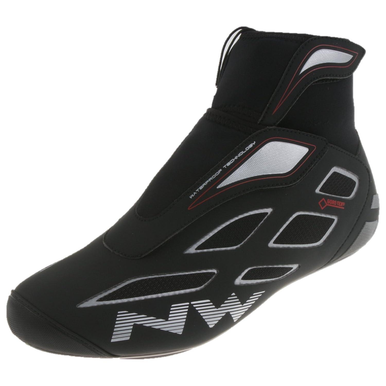 Northwave Fahrenheit 2 GTX Rennrad Schuhe Road Bike Winter Fahrrad Cleats Gore Tex, 80154023, Farbe Schwarz Silber, Grö ß e 42 Größe 42