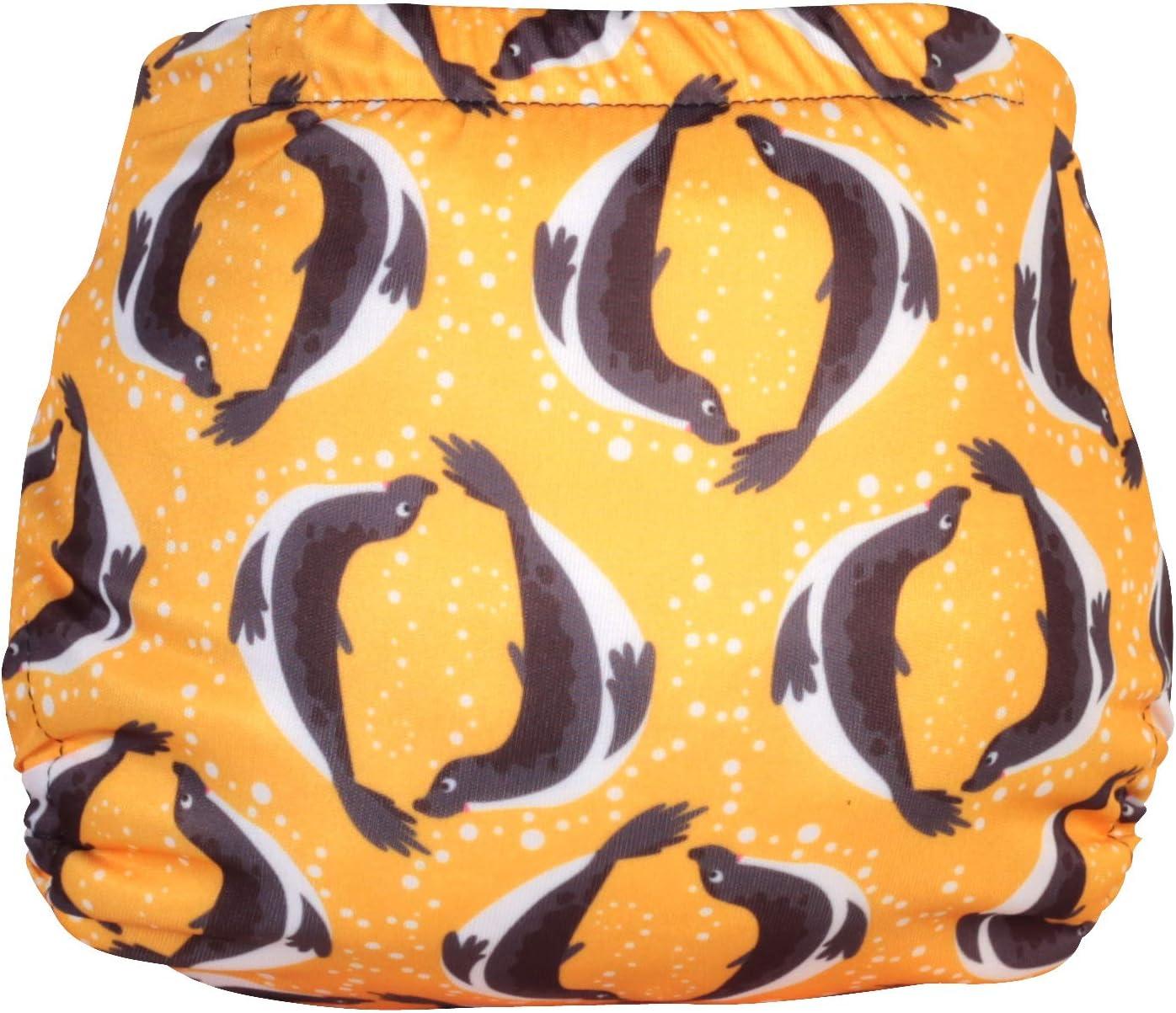 buceo talla 2 Pa/ñal reutilizable para nataci/ón color amarillo con sellos TotsBots